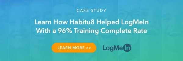 Learn How Habitu8 Helped LogMeIn With a 96% Training Complete Rate